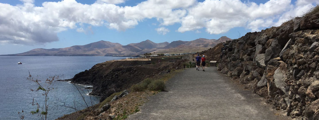 Hiking trail from puerto del carmen to puerto calero ontheqt - Lanzarote walks from puerto del carmen ...